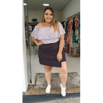 Cropped Plus Size Poá
